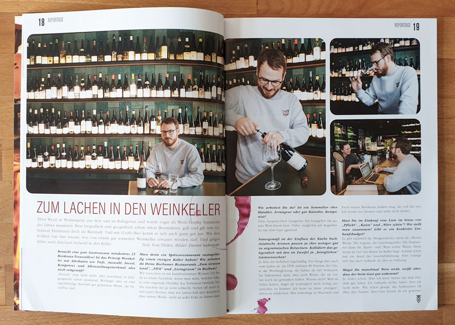 Tibor Werzl, Sommelier, Bochum. Für Ruhrgebiet geht aus, 2020